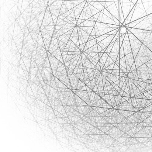 3d spherical structure black and white