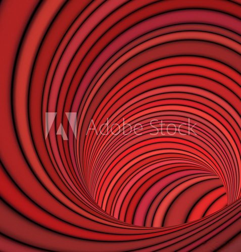 3d striped tunnel pipe in red pink