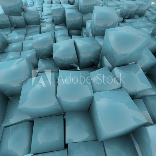Medium turquoise   dynamic  wire  texture Cube Background ''