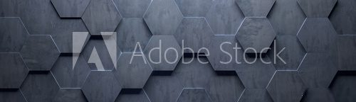 Concrete Wide Hexagon Background (Site head) (3d illustration)