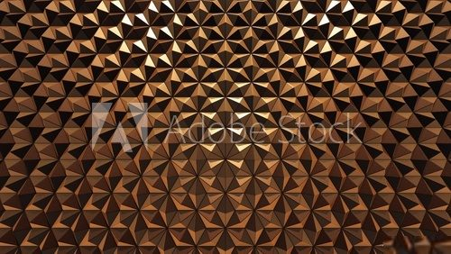 Copper background, 3D rendering