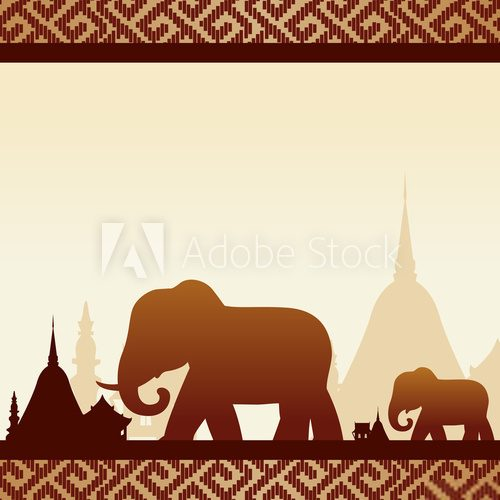 elephants with Thailand