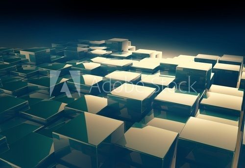 shiny cube pattern abstract background