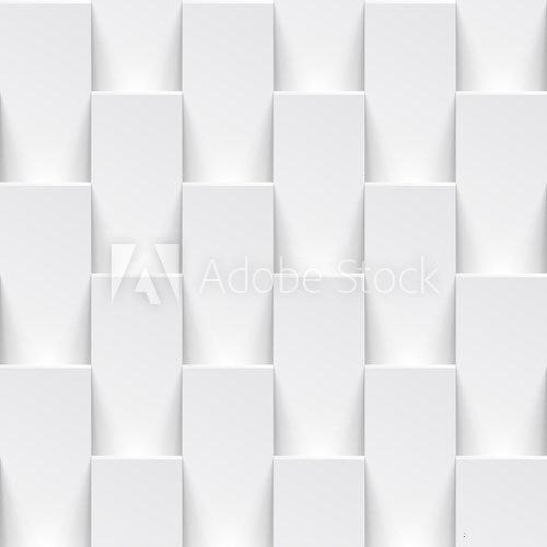Vector white geometric tile 3D pattern background