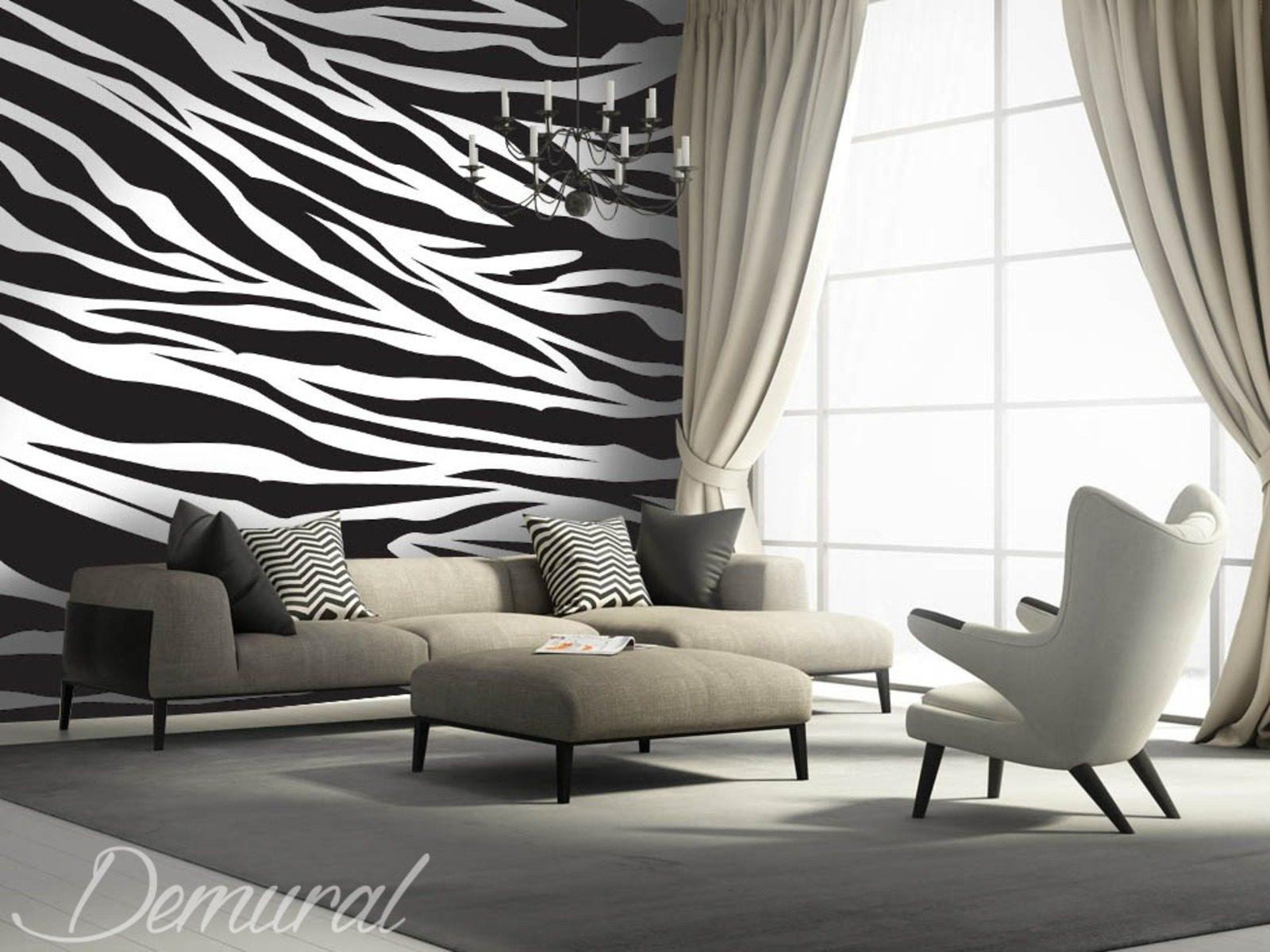 T tent zebry fototapety tekstury fototapety demural - Papier peint zebre noir et blanc ...